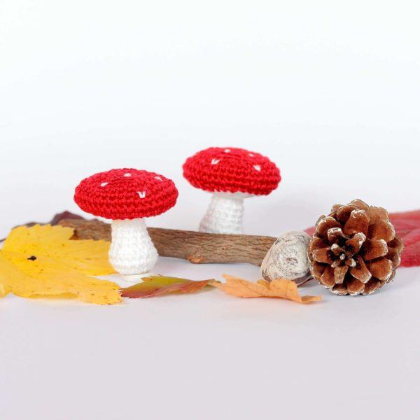 Porte clef champignon au crochet