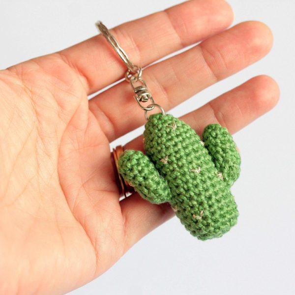 Porte clef cactus amigurumi