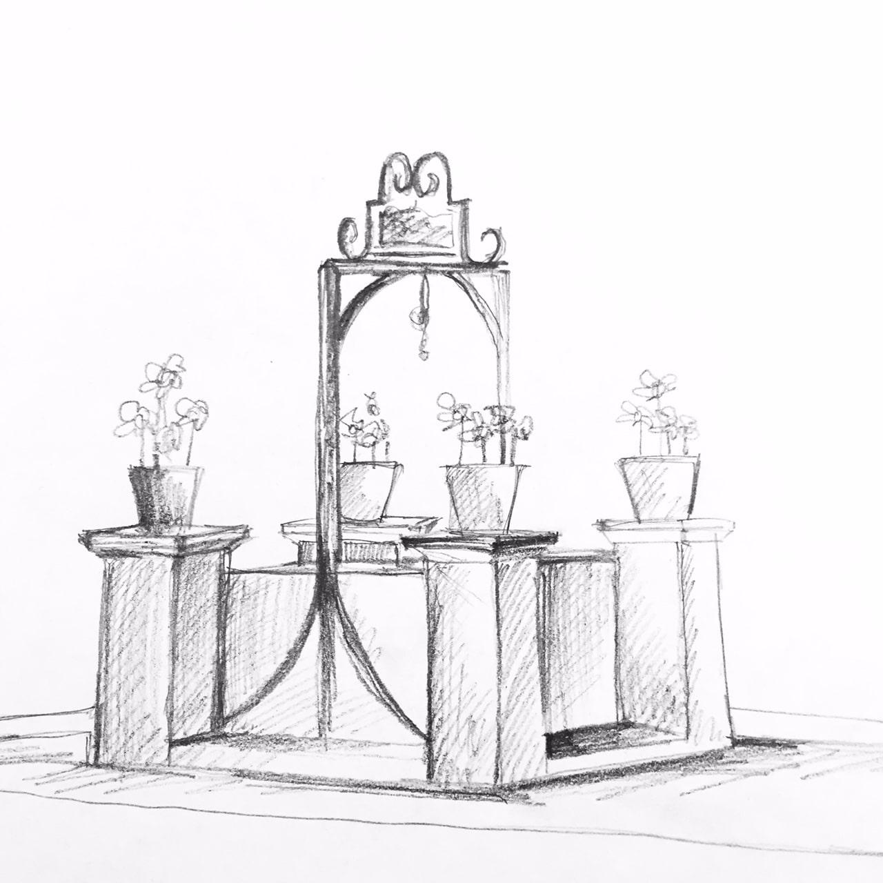 Dessin puits Sauveterre