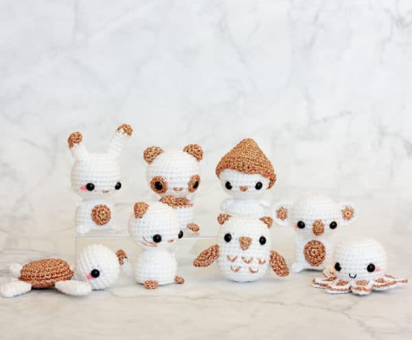 animaux miniatures au crochet