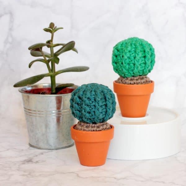 Cactus rond au crochet