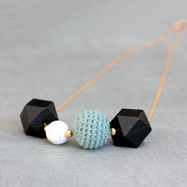 Sautoir crochet howlite