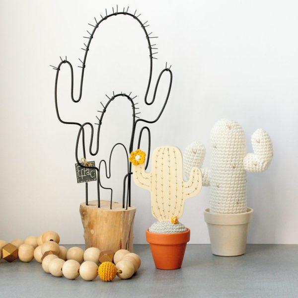 Cactus mexicain bois crochet