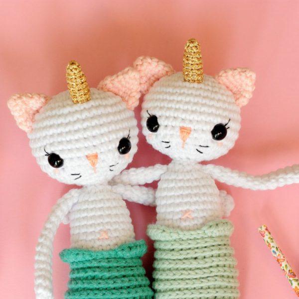 Patron au crochet chat sirène