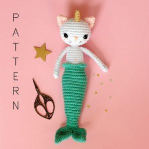 Patron chat licorne sirène au crochet