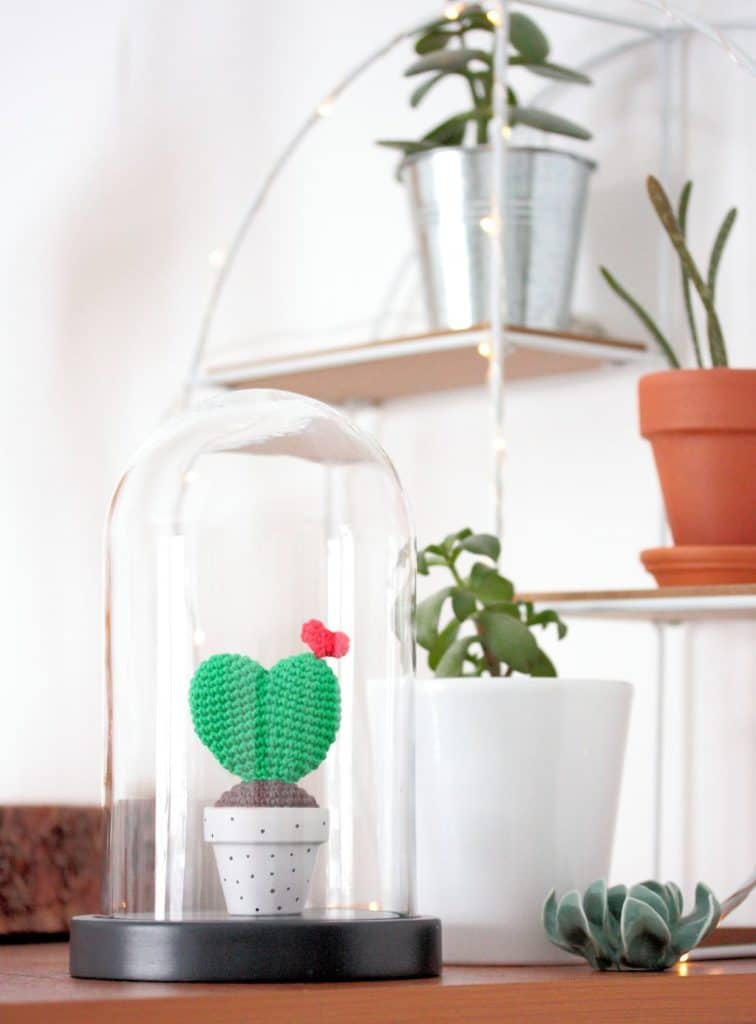 Diy cactus coeur au crochet