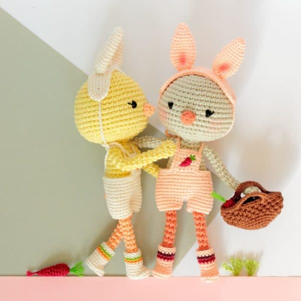 poussin lapin au crochet