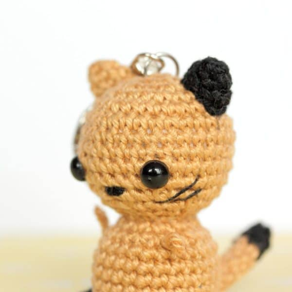 Porte clés chat crochet