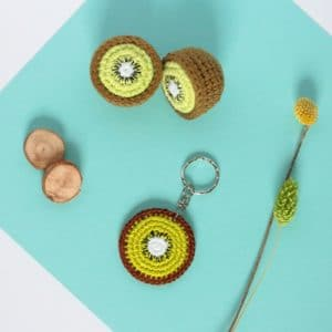 porte clés kiwi au crochet