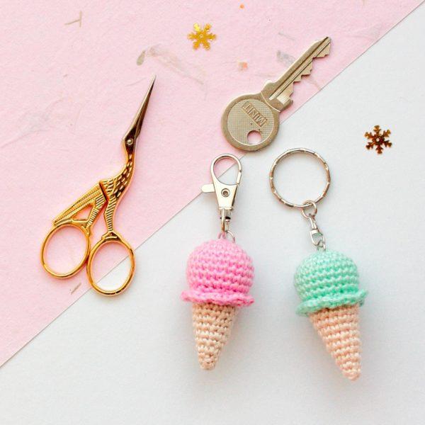 porte clés glace au crochet