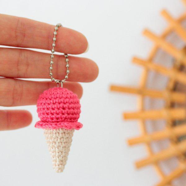 porte clés glace crochet
