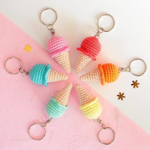 porte clés glace amigurumi