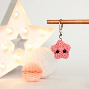 porte clés étoile amigurumi
