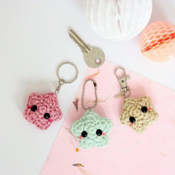 porte clés étoile au crochet