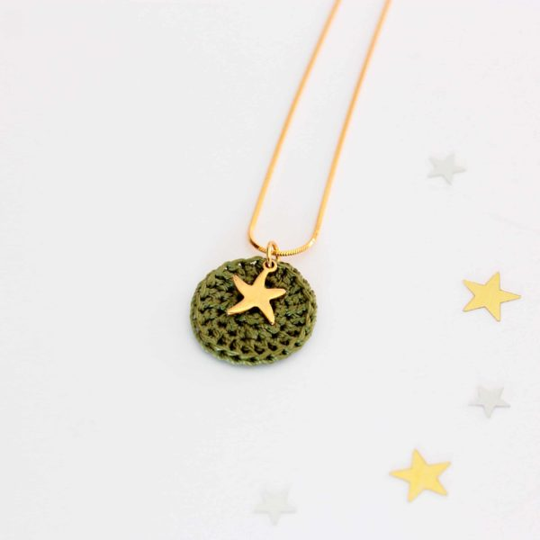 collier étoile acier inoxydable