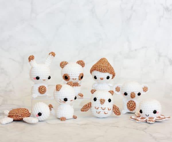 animaux miniatures au crochet