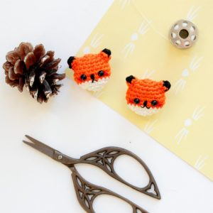 Broches renard au crochet