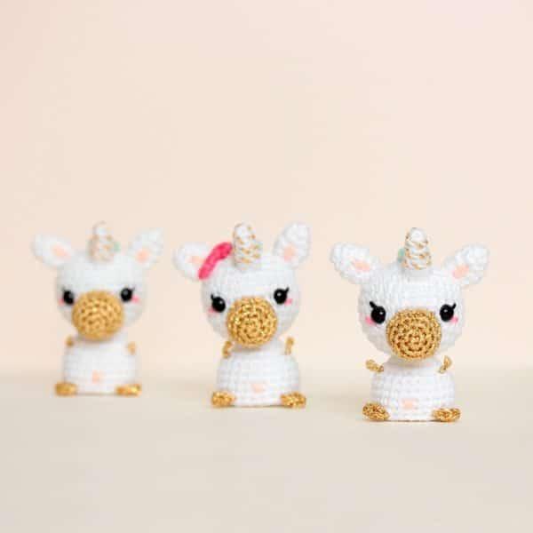 Amigurumi licorne miniature
