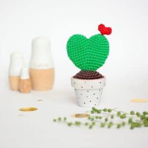 cactus coeur au crochet