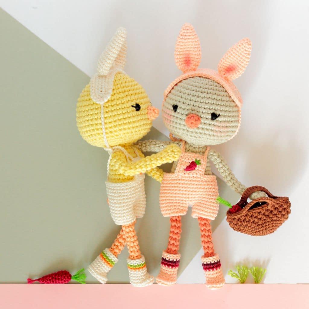 Miniature rabbit, very fine crochet hook, 5 cm, micro white Bunny ... | 1024x1024