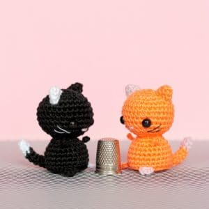 Chats miniature au crochet