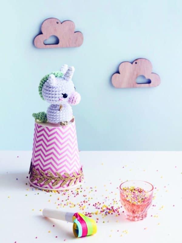 Mini licorne au crochet